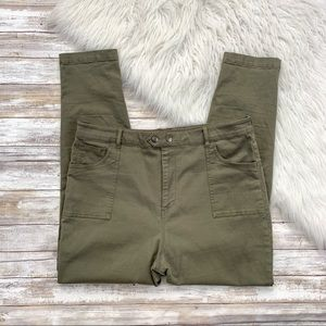 ASOS Olive Green Cargo Skinny Pant
